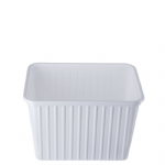 2Ltr White Ribbed Container (0033)